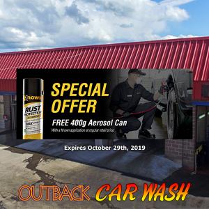 Outback Car Wash - October Promo