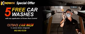 Outback Car Wash - March promo